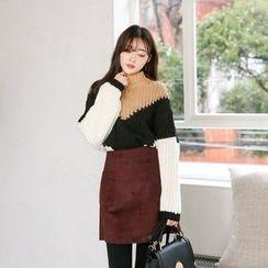 Seoul Fashion - Dual-Pocket Mini A-Line Skirt