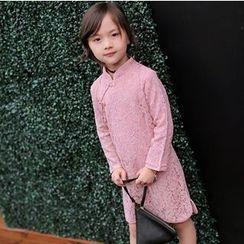 Candy Baby - Kids Long-Sleeve Lace Sheath Dress