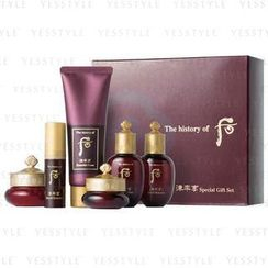 The History of Whoo - Jinyulhyang Special Gift Set (6 items): Foam 40ml + Balancer 20ml + Lotion 20ml + Essence 4ml + Eye Cream 5ml + Cream 10ml