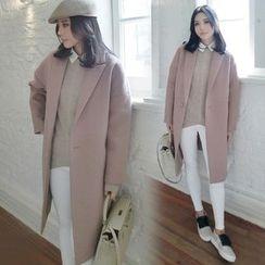 Emmy - Plain Wool Coat