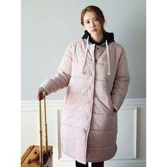 LOLOten - Snap-Button Padded Long Coat