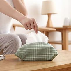 Lazy Corner - Check Zip Tissue Box