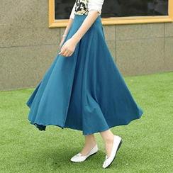 Romantica - Pleated Maxi Skirt