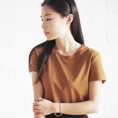 YARU - 短袖純色T恤