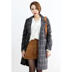 Dalkong - One-Button Check Coat