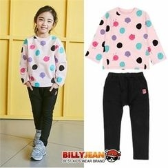 BILLY JEAN - Girls Set: Dot T-Shirt + Cotton Pants
