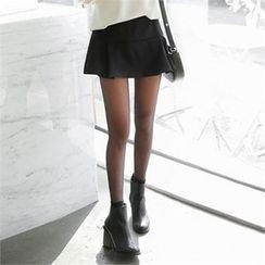 ZIZIBEZIRONG - Inset Shorts A-Line Mini Pleat Skirt