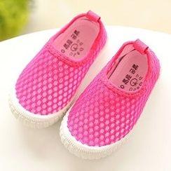 绿豆蛙童鞋 - 小童网纱休閒鞋