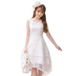 Candy Rain - Organza Sleeveless Midi Dress
