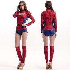 Cosgirl - Spiderweb Print Party Costume Set