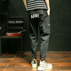 CooLook - Letter Cargo Pants