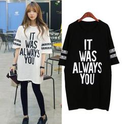 VIZZI - Lettering T-Shirt Dress