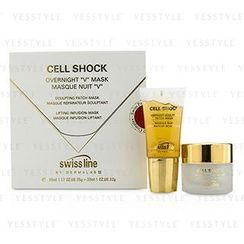 Swissline - Cell Shock Overnight 'V' Mask: Csulpting Patch-Mask 35ml/1.18oz + Lifting Onfusion-Mask 30ml/1oz 118