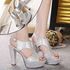 CITTA - High Heel Platform Slingback Sandals