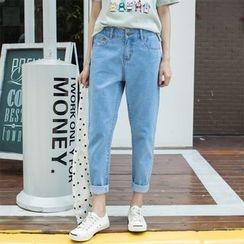 Leewiart - High Waist Baggy Jeans