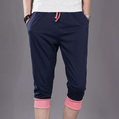 Chic Maison - 抽绳七分运动裤