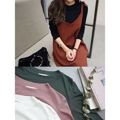 hellopeco - Mock-Neck Long-Sleeve Top