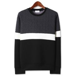 Seoul Homme - Embossed-Panel Pullover