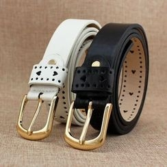 Coco Rush - Perforated Skinny Belt