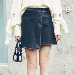 LRZ - Faux Leather Skirt