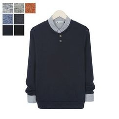 DANGOON - Long-Sleeve Mélange Knit Henley