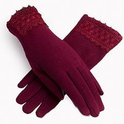 羚羊早安 - 鏤空花邊保暖手套
