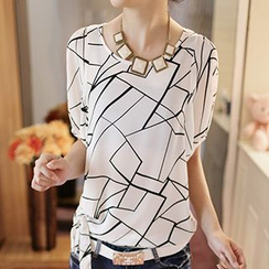 Rocho - Short-Sleeve Print Top