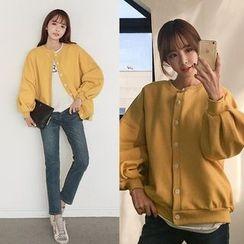 Seoul Fashion - Drop-Shoulder Buttoned Jacket