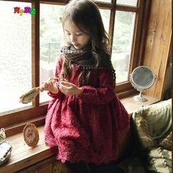 Cuckoo - Kids Fleece-lined Lace Dress