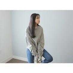 Envy Look - Shirred-Sleeve Sweatshirt