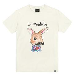 the shirts - Moustache Rabbit Print T-Shirt