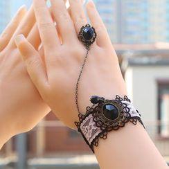 Amina - 蕾丝戒指手镯