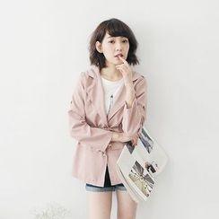 Tokyo Fashion - Tie Waist Trench Jacket