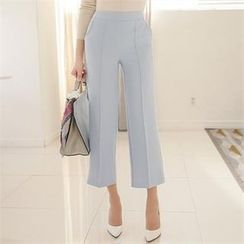 ode' - Seam-Front Cropped Pants