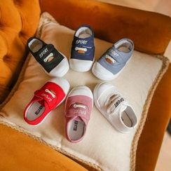 Hambu - Kids Embroidery Velcro Canvas Sneakers