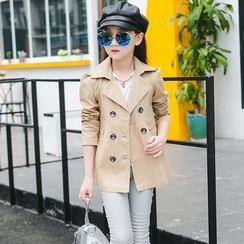 Famula - Kids Double-Breasted Trench Coat