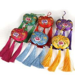 Golden Spindle - Embroidery Sachet Hanging Ornament