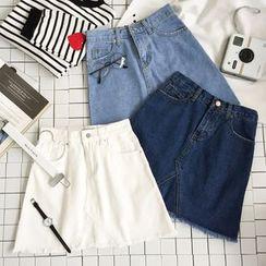 Dasim - Denim A-Line Skirt