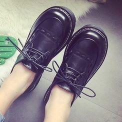 SouthBay Shoes - Platform Lace Up Shoes