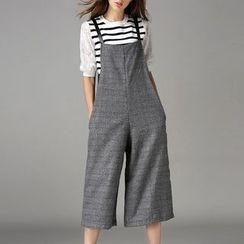 Isadora - Wide Leg Pinafore Jumpsuit