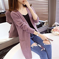 FR - Open Front Long Cardigan