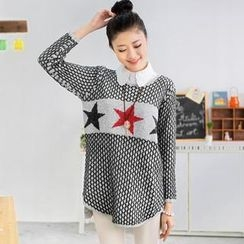 59 Seconds - Star Pattern Long Sweater