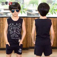 三零九班 - 兒童套裝: 印字背心上衣 + 短褲