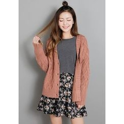 GOROKE - Cable-Knit Cardigan