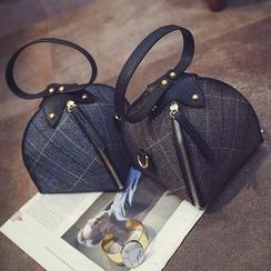 Pandabada - Plaid Zip Handbag