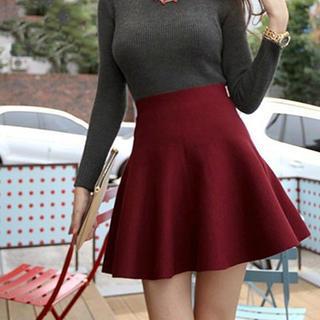 Oaksa - High-Waist Knit Skirt