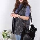 miss panda - Pocket-Front Plaid Vest