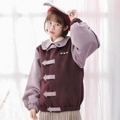 Moriville - Peter Pan Collar Arrow Velcro Jacket