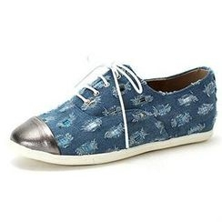 MODELSIS - Distressed Denim Sneakers