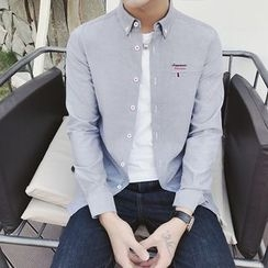 Prep Soul - Embroidered Long-Sleeve Shirt